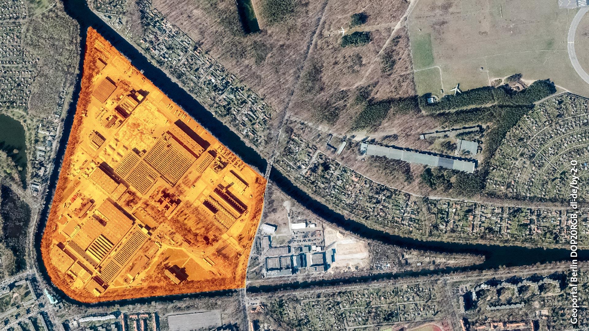 Das neue Gartenfeld, Luftbild