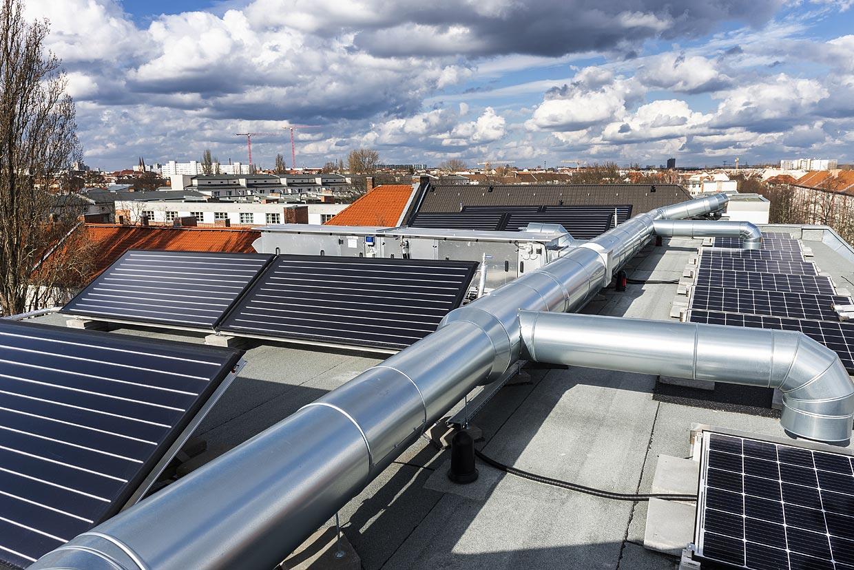 Neubau Archenoldstrasse ,PV + Solarthermie