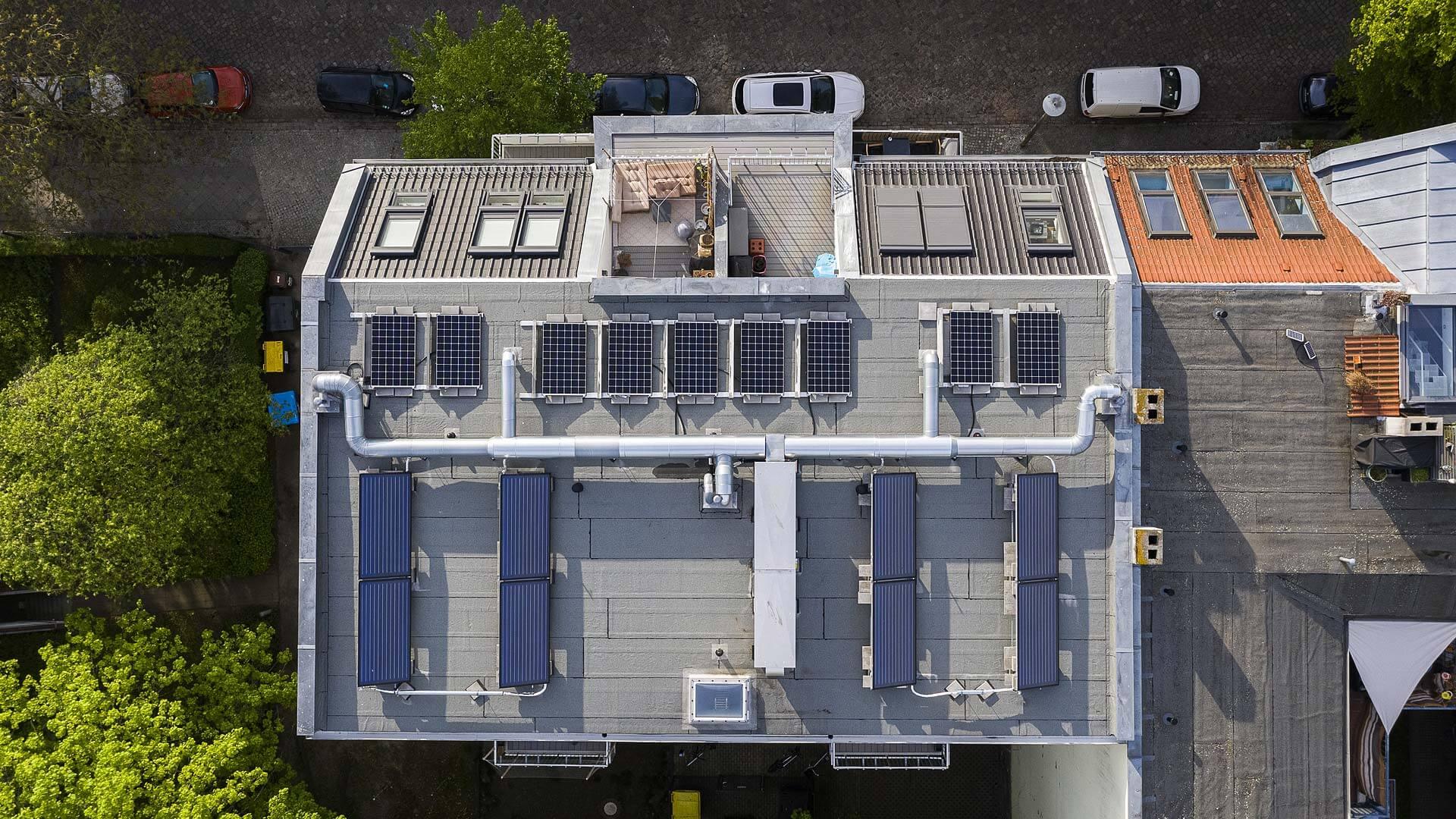 Neubau MFH Berlin Pankow, Solarthermie/Photovoltaik